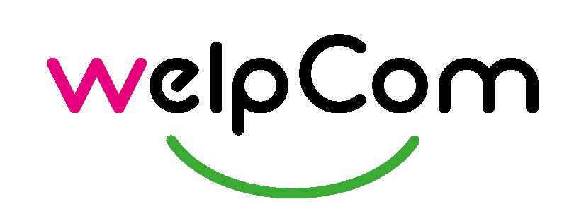 logo welpcom, graphisme et site internet, Hélène Lortal